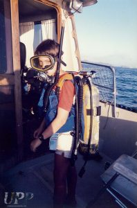 My first time SCUBA diving, off my Uncle Jack's boat in Mexico.