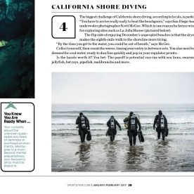 """My divers photo is featured in the Sport Diver Magazine article on """"50 Ways to Challenge Yourself""""."""
