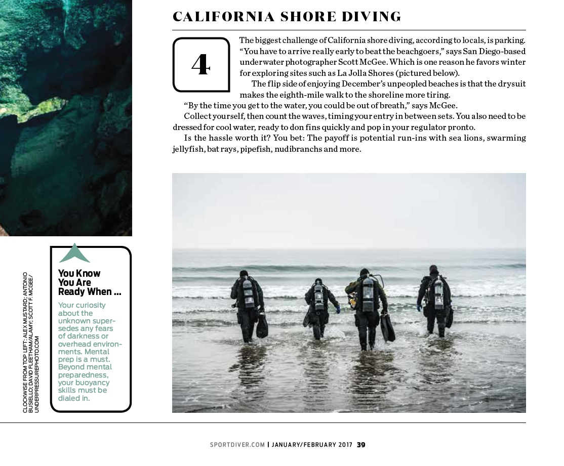 Diver Portrait in Sport Diver Magazine
