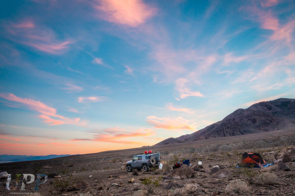 Camping with Greyjoy in Death Valley National Park, CA