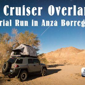 FJ Cruiser overlanding in the Anza Borrego State Park