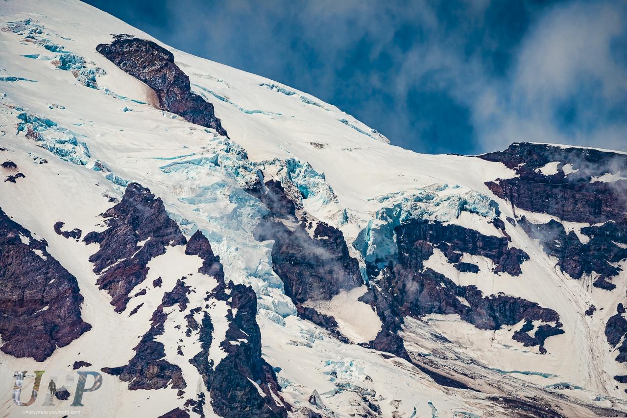 Snowpack on Mt Rainier, Mt Rainier National Park, WA