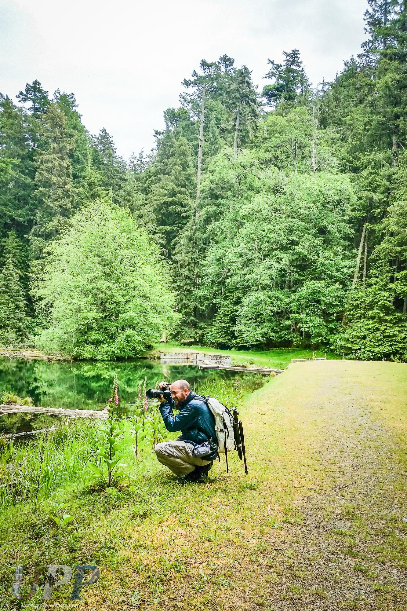 Photographing Mountain Lake