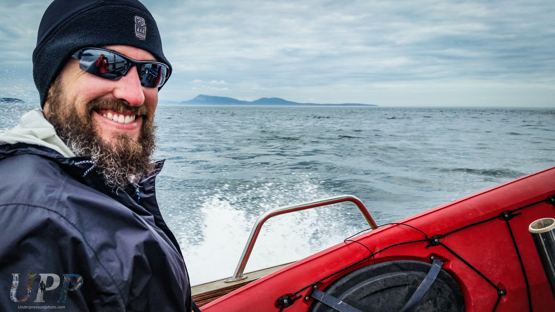 Scott McGee on the way to Sucia Island. Photo by CrtrGrl