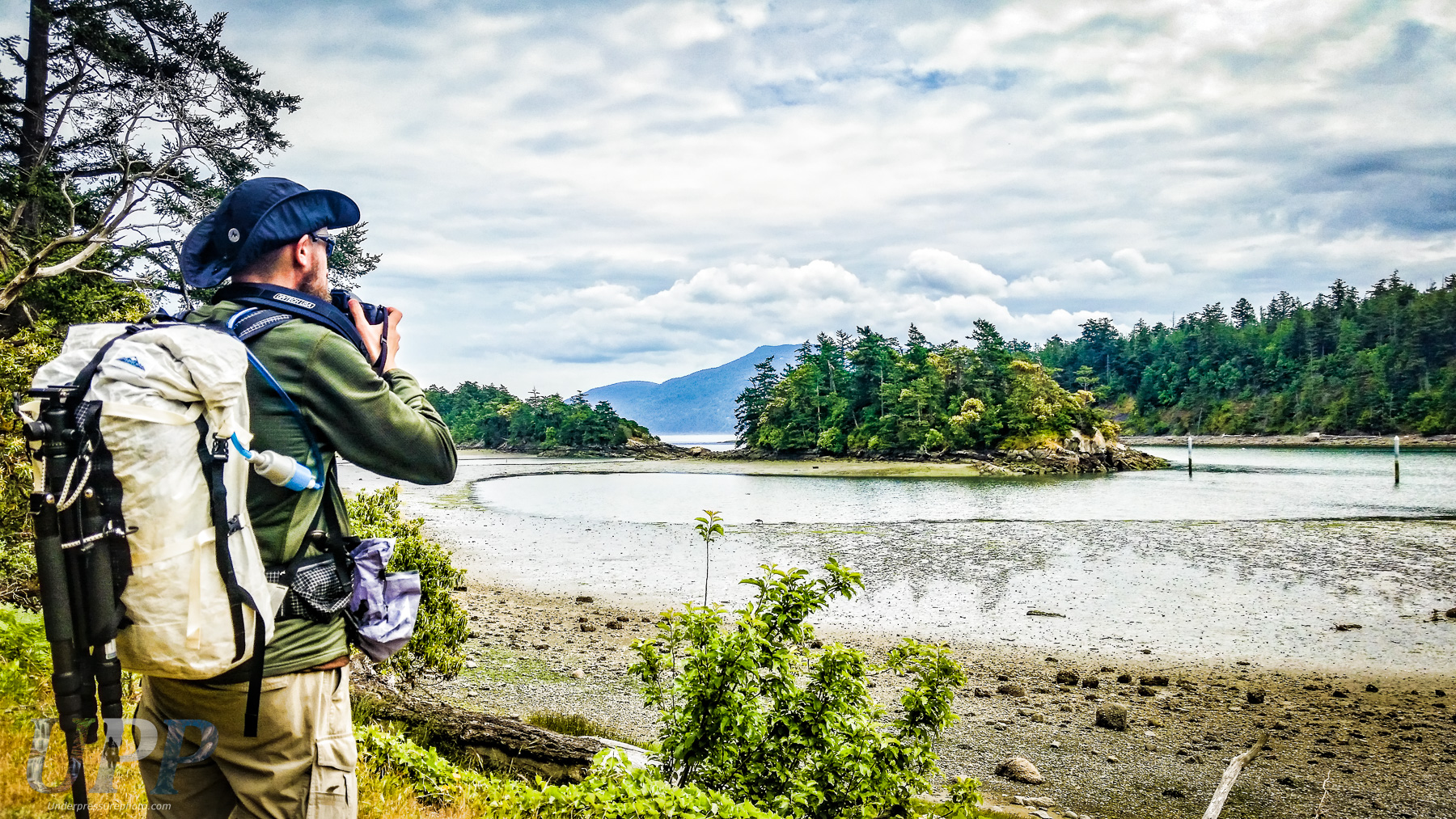Scott McGee photographing Fossil Bay. Photo by CrtrGrl.